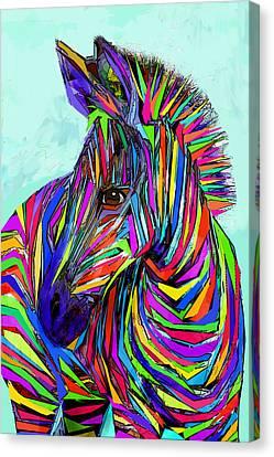 Pop Art Zebra Canvas Print