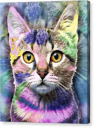 Pop Cat Canvas Print