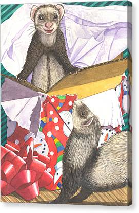 Ferret Canvas Print - Pop by Catherine G McElroy