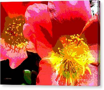 Canvas Print featuring the photograph Pop Goes The Poppy by Sally Simon