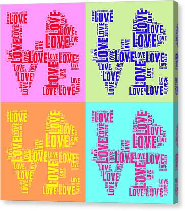 Tag Canvas Print - Pop Love Collage by Delphimages Photo Creations