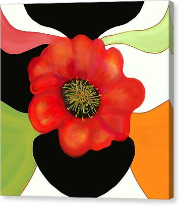 Pop Poppy Canvas Print by Christine Fournier