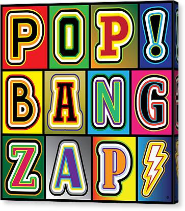 Pop Words Canvas Print by Gary Grayson