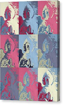 Popart An Angel Canvas Print by Tommytechno Sweden