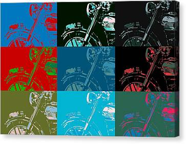 Popart Motorbike Canvas Print
