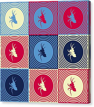 Popart Spiders  Canvas Print by Tommytechno Sweden