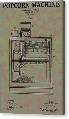 Popcorn Machine Patent Canvas Print by Dan Sproul