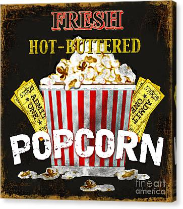 Theatre Canvas Print - Popcorn Please by Jean Plout