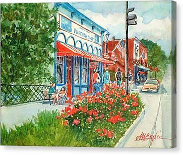 Popcorn Shop In Summer/chagrin Falls Canvas Print