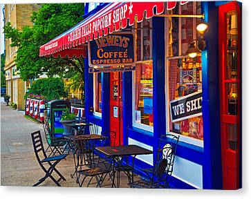 Popcorn Shop Canvas Print by John Hoey