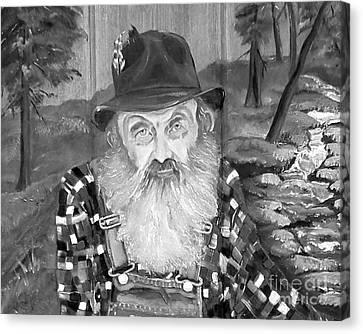 Popcorn Sutton - Maggie Valley Moonshiner Canvas Print by Jan Dappen