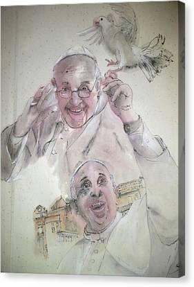 Pope Francis Album Canvas Print
