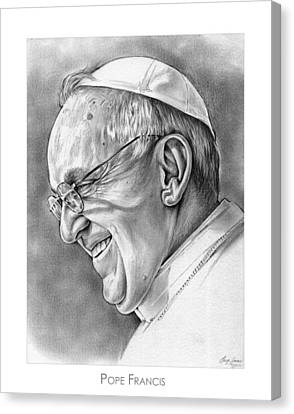 Pope Canvas Print - Pope Francis by Greg Joens