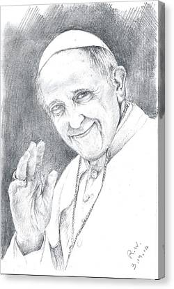 Pope Francis Canvas Print by Rose Wang