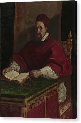 Pope Gregory Xv Guercino Giovanni Francesco Barbieri Canvas Print