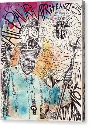 pope John paul Canvas Print by Michael Volpicelli