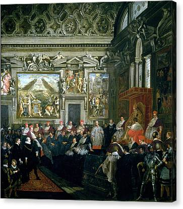 Graf Canvas Print - Pope Paul V 1522-1621 With An Audience, 1620 Oil On Canvas by Pietro da Cortona
