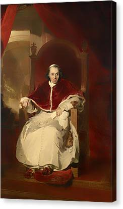 Pope Pius Vii Canvas Print by Mountain Dreams