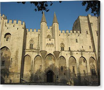 Popes Palace In Avignon Canvas Print by Pema Hou