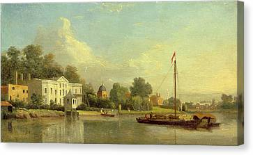 Popes Villa, Twickenham, London, Samuel Scott Canvas Print by Litz Collection