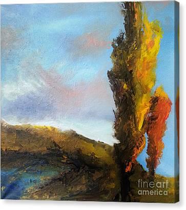 Poplars Canvas Print by Maja Sokolowska