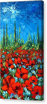Poppie Field Canvas Print