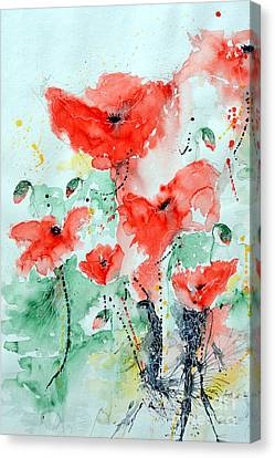 Poppies 06 Canvas Print