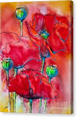 Poppies 2 Canvas Print by Jani Freimann