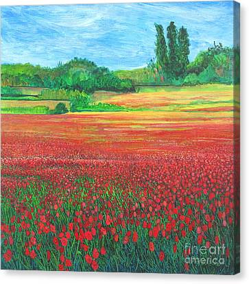 Poppies 2 Canvas Print by Pamela Iris Harden