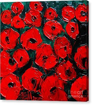 Poppies 3 Canvas Print by Mona Edulesco