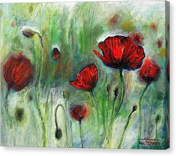 Poppies Canvas Print by Arleana Holtzmann