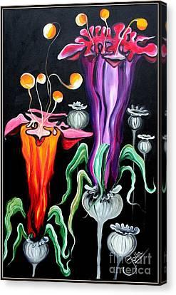 Poppies Fantasy.. Canvas Print