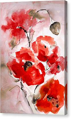 Poppies I Canvas Print by Hedwig Pen