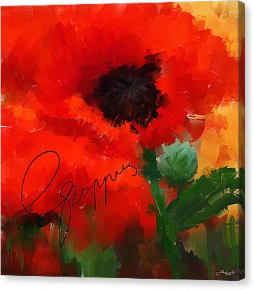 Poppies Canvas Print by Lourry Legarde