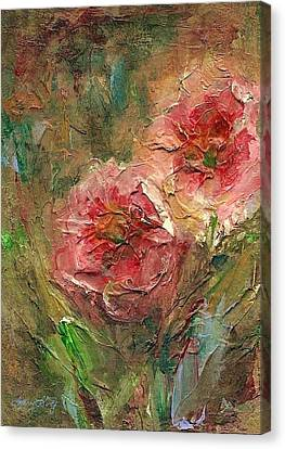 Poppies Canvas Print by Mary Wolf