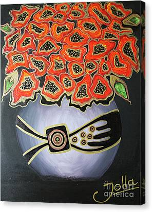 Poppies Revisited.. Canvas Print by Jolanta Anna Karolska