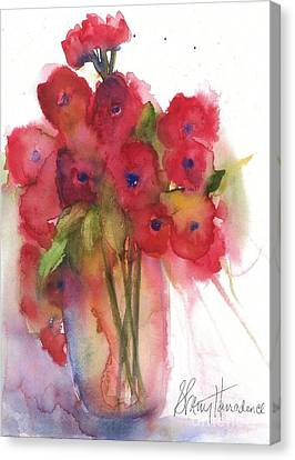 Poppies Canvas Print by Sherry Harradence