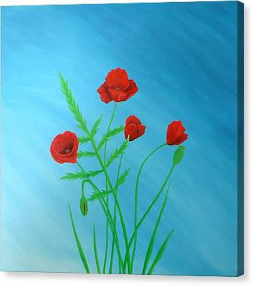 Poppies Canvas Print by Sven Fischer