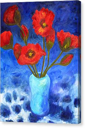 Poppies Canvas Print by Valerie Lynch