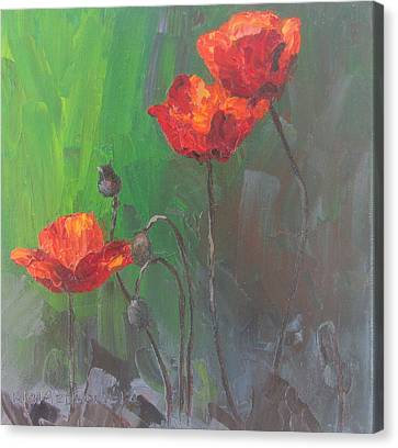 Poppies3 Canvas Print by Susan Richardson
