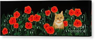 Poppy Cat Canvas Print