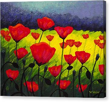 Poppy Corner IIi Canvas Print
