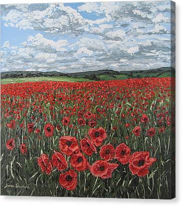 Poppy Field Canvas Print by Diana Shephard