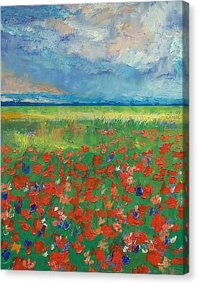Poppy Field Canvas Print by Michael Creese