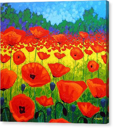 Giclee Trees Canvas Print - Poppy Field V by John  Nolan