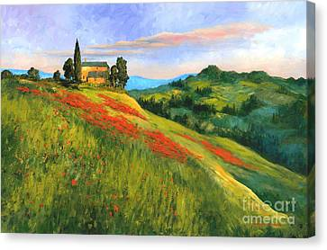 Poppy Hill Canvas Print by Michael Swanson