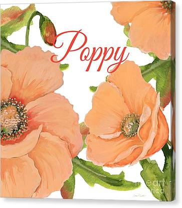 Flowers Names Canvas Print - Poppy-jp2589 by Jean Plout