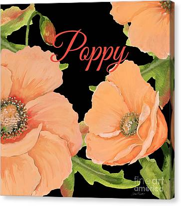 Flowers Names Canvas Print - Poppy-jp2697 by Jean Plout