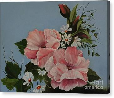 Poppy Love Canvas Print by Louise Williams