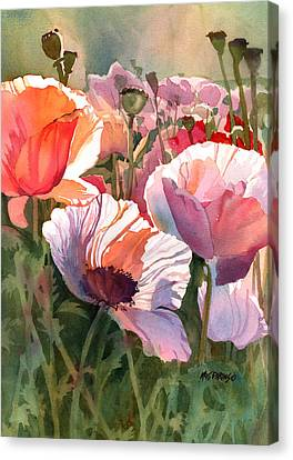 Poppy Madness Canvas Print by Kris Parins